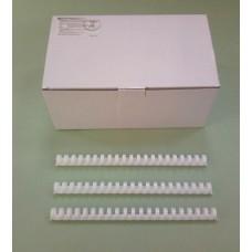 Пружины Plastic 19/20 мм белые 100шт