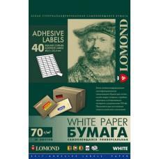 Наклейка А4 40 делений (50л) Lomond 2100195