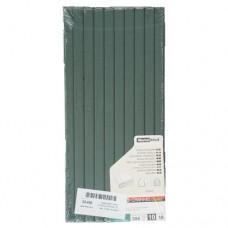 Цветные каналы с покрытием ткань O.Channel А4 304 мм, 10 мм, зеленые