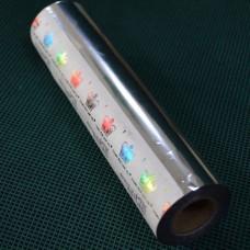 Фольга металлик № 01 серебро  (0,2 х60м) Crown Roll Leaf