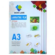 Пленка Laminat А3 глянцевая  60мкм Won Lami