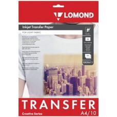 Термотрансфер А4 струйный для светлых тканей Lomond (10л) 0808411