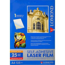 Плёнка А4 прозрачная матовая самоклеящаяся Lomond для лазерной печати 25 листов 28100030