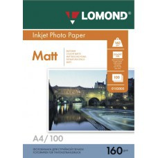 Бумага А4 160г/м2 матовая Lomond (100л) 102005
