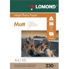 Бумага А4 230г/м2 матовая Lomond (50л) 102016