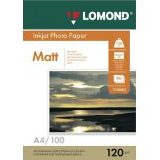 Бумага А4 120г/м2 матовая Lomond (100л) 0102003