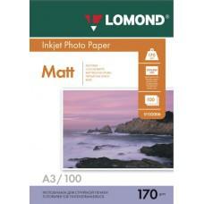 Бумага А3 170г/м2 матовая/матовая Lomond (100л) 102012